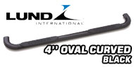 Lund 4'' Oval Curved<br /> Black