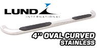 Lund 4'' Oval Curved<br /> Stainless