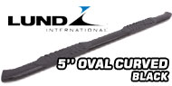 Lund 5'' Oval Curved<br /> Black