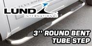 Lund 3 Inch<br /> Round Bent Nerf Bars