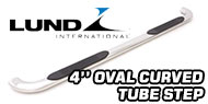 Lund 4 Inch<br /> Oval Curved Nerf Bars