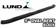 Lund 5'' Oval Bent<br /> Black