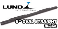Lund 5'' Oval Straight<br /> Black