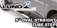 Lund 5 Inch<br /> Oval Straight Nerf Bars