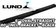 Lund 6'' Oval Straight<br /> Black