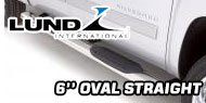 Lund 6 Inch<br /> Oval Straight Nerf Bars