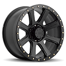 Mamba Wheels <br /> 588B M16 Matte Black with Cadmium-Coated Bolts