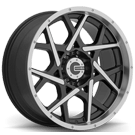 Mamba Wheels <br/>592MB M20 Gloss Black with Machined Face