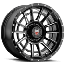 Mamba Wheels <br/>594MB M22 Matte Black with Ball-Cut Machined Spoke Accents