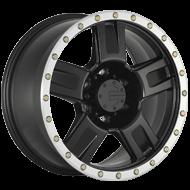 Mamba 590MB M18 Matte Black Machined Lip Cadmium-Coated Bolts Wheels