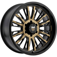 Mamba 593BZ M21 Satin Bronze Face with Satin Black Accents Wheels