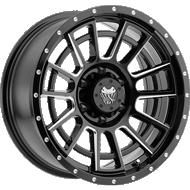 Mamba 594MB M22 Matte Black with Ball-Cut Machined Spoke Accents Wheels