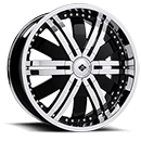 Black Ice Wheels <br /> Marauder Black w/ Chrome