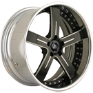 Masini Wheels <br> M09 Karma Satin/Black Lip