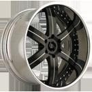 Masini Wheels <br> M17 Turino Chrome/Black Lip