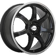 Maxxim Knight Gloss Black w/ Machine Lip Wheels