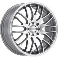 Maxxim Maze Silver w/ Full Machined Face Wheels