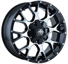 Mayhem Wheels <br> Warrior 8015 Black/Machined