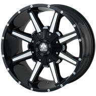 Mayhem Wheels <br/> Arsenal 8104 Gloss Black with Machined Face