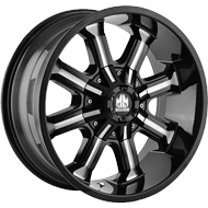 Mayhem Wheels <br/> Beast 8102 Black with Milled Spokes