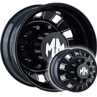 Mayhem Wheels <br/> BigRig 8180 Black with Milled Spokes