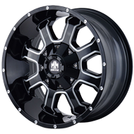 Mayhem Wheels<br/> Fierce 8103 Gloss Black with Milled Spokes