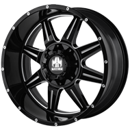 Mayhem Wheels <br/> Monstir 8100 Gloss Black with Milled Spokes