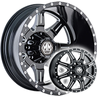 Mayhem Wheels<br/> Monstir Dually 8101 Black with Milled Spokes