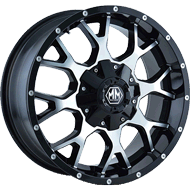 Mayhem Wheels <br/> Warrior 8015 Black/Machined Face