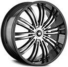 Mazzi Wheels <br /> Swank 363 Black/Machined