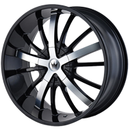 Mazzi Essence 364 Gloss Black with Machined Face Wheels