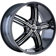 Mazzi Galaxy 365 Black/Machined Wheels