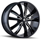 Mazzi Wheels <br /> Obsession 366 Gloss Black with Machined Face