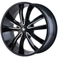 Mazzi Obsession 366 Gloss Black with Machined Face Wheels