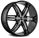 Mazzi Wheels <br /> Rush 792 Black with Machined Face