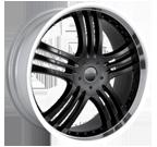 Mazzi Wheels <br/>Klaw 385 Gloss Black Machined