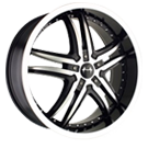 Mazzi Wheels<br>Smoke 375 Black Machined