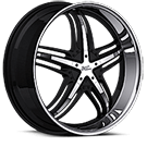 Milanni Wheels 457 Force<br /> Gloss Black with Machined Face and Lip