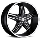 Milanni Wheels 458 Phoenix<br /> Black Machined