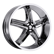 Milanni Wheels 459 Bel-Air 5<br/> Chrome with Gloss Black Inserts