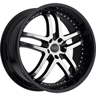 Milanni Wheels 9012 Kapri<br/> Gloss Black Machined Face