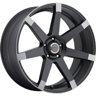 Milanni Wheels 9042 Sultan<br/> Matte Black with Anthracite Spoke Ends
