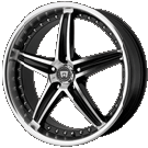 Motegi Racing Wheels<br /> MR107 Gloss Black Machined