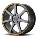Motegi Racing Wheels<br /> MR132 Matte Gray with Orange Stripe