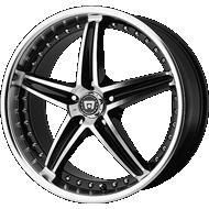 Motegi Racing MR107 Gloss Black Machined Wheels