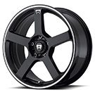 Motegi Racing Wheels<br> MR116 Gloss Black with Machined Flange