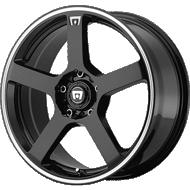 Motegi Racing MR116 Gloss Black with Machined Flange Wheels