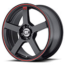 Motegi Racing Wheels<br /> MR116 Matte Black with Red Stripes