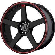 Motegi Racing MR116 Matte Black with Red Stripes Wheels