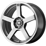Motegi Racing MR116 Dark Silver with Machined Flange Wheels